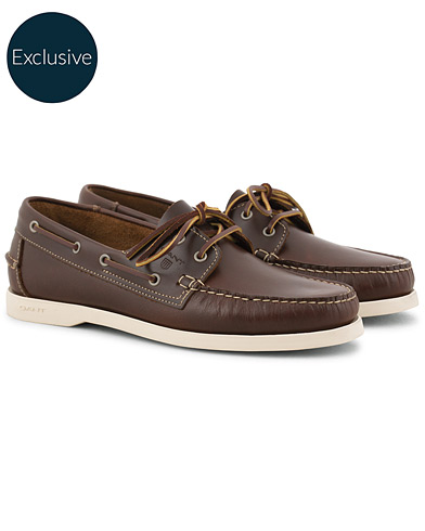 GANT Exclusively Made For Care of Carl Boatshoe Cognac i gruppen Skor / Seglarskor hos Care of Carl (15741711r)