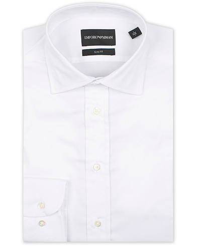 Emporio Armani Slim Fit Shirt White i gruppen Kläder / Skjortor / Formella / Businesskjortor hos Care of Carl (15757411r)