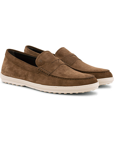 Tod's Moccassino Gomma Pennyloafer Tobacco Suede