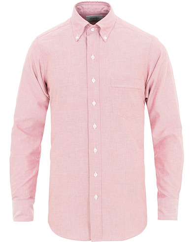 Drake's Slim Fit Oxford Button Down Shirt Red i gruppen Kläder / Skjortor / Casual / Oxfordskjortor hos Care of Carl (15776811r)