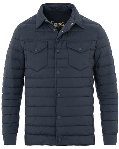 Herno Nuage Matt Nylon Legend Shirt Jacket Avio Blue i gruppen Kläder / Jackor / Tunna jackor hos Care of Carl (15780311r)