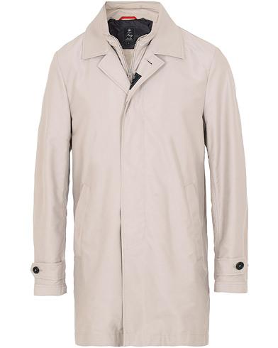 Fay Morning Double Front Nylon Coat Light Grey