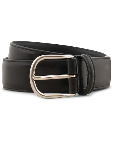 Anderson's Calf Leather 3,5 cm Belt Black i gruppen Accessoarer / Bälten / Släta bälten hos Care of Carl (15811911r)