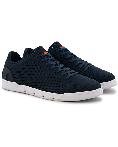 Swims Breeze Tennis Knit Sneaker Navy/White i gruppen Skor / Sneakers hos Care of Carl (15813911r)