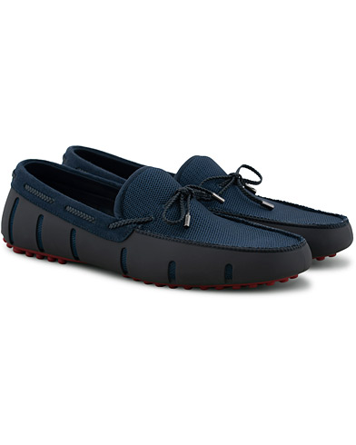 Swims Braided Lace Lux Loafer Driver Navy/Deep Red i gruppen Skor / Loafers hos Care of Carl (15814211r)