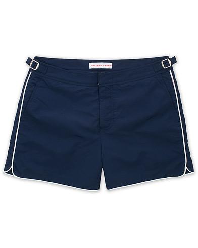 Orlebar Brown Setter Piping Swimshorts Navy/White