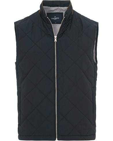 Hackett Lightweight Quilted Vest Navy i gruppen Kläder / Västar hos Care of Carl (15848211r)