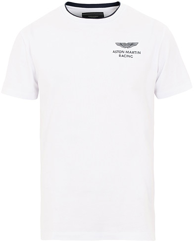 Hackett AMR Crew Neck Tee White i gruppen Kläder / T-Shirts / Kortärmade t-shirts hos Care of Carl (15850711r)