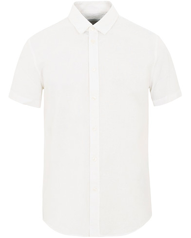 Samsøe & Samsøe Vento Linen Cotton Short Sleeve Shirt White i gruppen Kläder / Skjortor / Casual hos Care of Carl (16030011r)