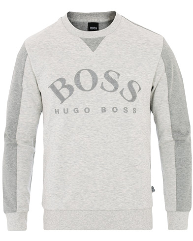 BOSS Athleisure Salbo Sweatshirt Grey i gruppen Kläder / Tröjor / Sweatshirts hos Care of Carl (16032611r)