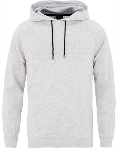 BOSS Logo Hoodie Grey i gruppen Kläder / Tröjor / Huvtröjor hos Care of Carl (16034511r)