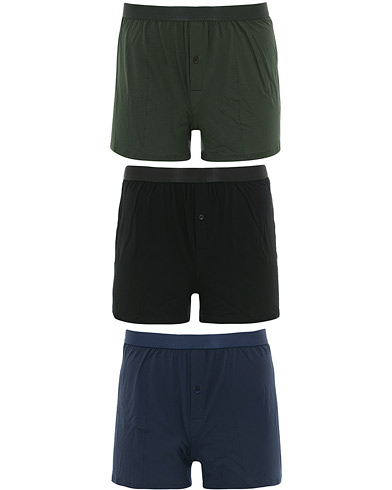 CDLP 3-Pack Boxer Shorts Black/Army/Navy i gruppen Kläder / Underkläder / Kalsonger hos Care of Carl (16038511r)