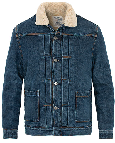 Levi's Made & Crafted Type II Sherpa Trucker Porto i gruppen Kläder / Jackor / Jeansjackor hos Care of Carl (16046711r)
