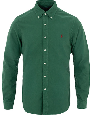 Polo Ralph Lauren Slim Fit Garment Dyed Oxford Shirt Green i gruppen Kläder / Skjortor / Casual hos Care of Carl (16065711r)