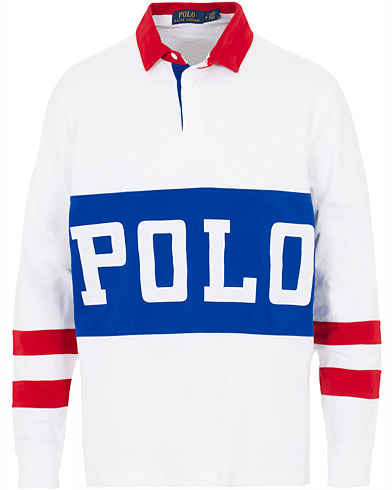 Polo Ralph Lauren Track Rugger White i gruppen Kläder / Tröjor / Rugbytröjor hos Care of Carl (16066411r)