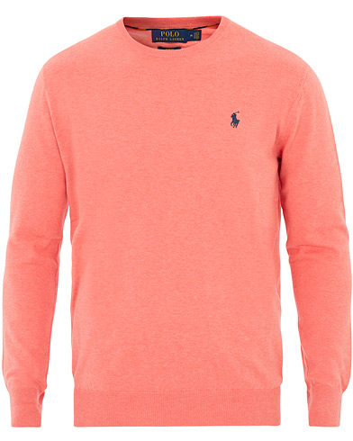 Polo Ralph Lauren Pima Cotton Crew Neck Pullover Dusty Peach Heahter i gruppen Kläder / Tröjor / Stickade tröjor hos Care of Carl (16067411r)