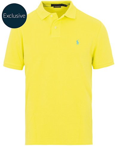 Polo Ralph Lauren Custom Slim Fit Neon Mesh Polo Laser Yellow i gruppen Kläder / Pikéer / Kortärmade pikéer hos Care of Carl (16070511r)