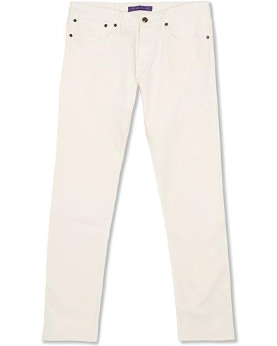 Ralph Lauren Purple Label Thomson Slim Fit 5-pocket Jeans Classic Cream