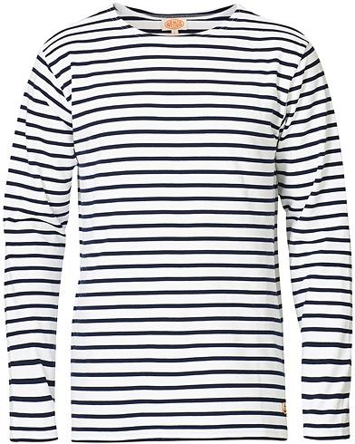Armor-lux Houat Héritage Stripe Longsleeve T-shirt White/Navy