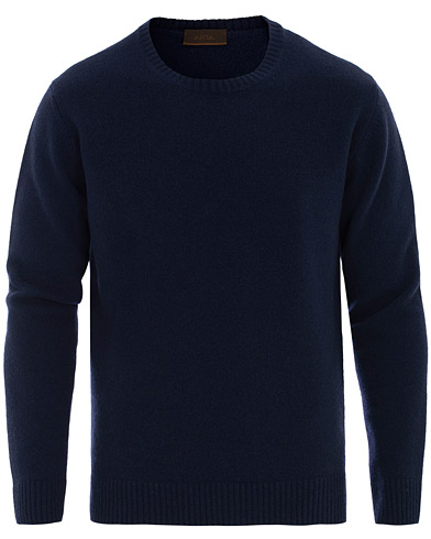 Altea Virgin Wool Crew Neck Sweater Navy i gruppen Kläder / Tröjor / Pullover rundhals hos Care of Carl (16078311r)
