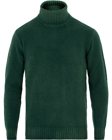 Altea Brushed Wool Turtleneck Sweater Green i gruppen Kläder / Tröjor / Polotröjor hos Care of Carl (16079511r)
