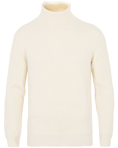 Altea Rib Stitch Wool Turtleneck Sweater Off White i gruppen Kläder / Tröjor / Polotröjor hos Care of Carl (16079811r)