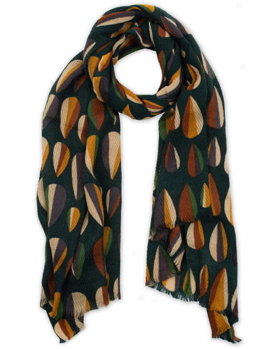 Altea Printed Wool Scarf Green  i gruppen Accessoarer / Scarves hos Care of Carl (16081510)