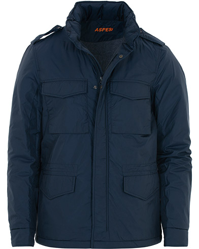 Aspesi Minifield Wool Lined Field Jacket Dark Blue i gruppen Kläder / Jackor / Field jackets hos Care of Carl (16082811r)