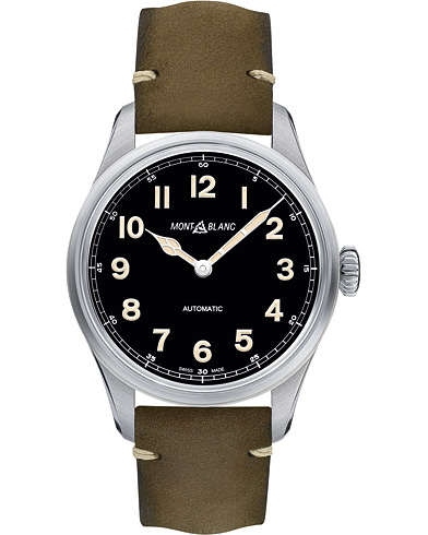 Montblanc 1858 Steel Automatic 40mm Black Dial  i gruppen Accessoarer / Klockor hos Care of Carl (16089910)
