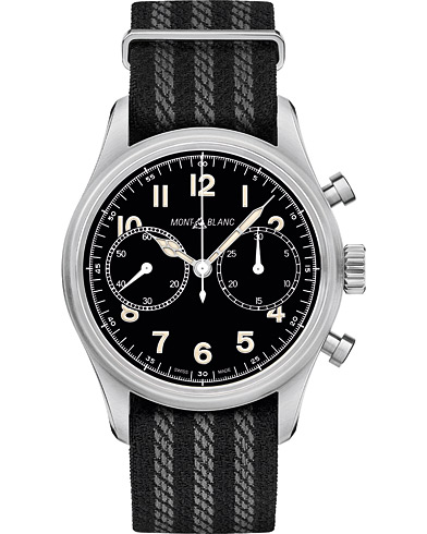 Montblanc 1858 Steel Automatic Chronograph 42mm Black Dial  i gruppen Accessoarer / Klockor hos Care of Carl (16090410)