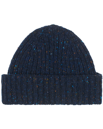 Drake's Merino Wool Donegal Hat Navy