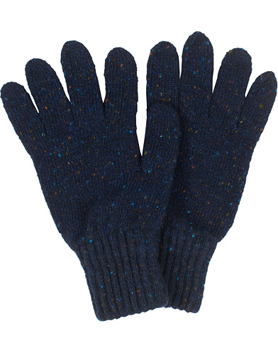 Drake's Merino Wool Donegal Gloves Navy  i gruppen Accessoarer / Handskar hos Care of Carl (16111410)