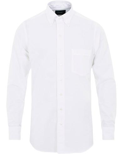 Drake's Regular Fit Oxford BD Shirt  White