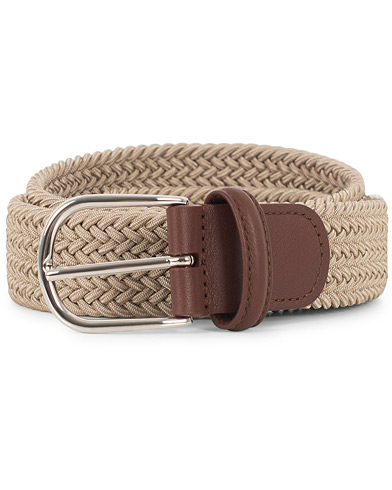 Anderson's Stretch Woven 3,5 cm Belt Beige i gruppen Accessoarer / Bälten hos Care of Carl (16114611r)