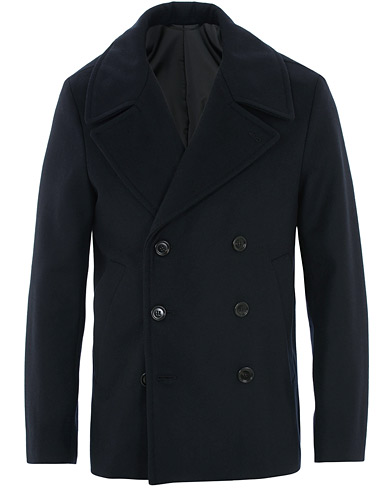 Filippa K Hague Wool Peacoat Navy Blue i gruppen Kläder / Jackor / Skepparkavajer hos Care of Carl (16205911r)