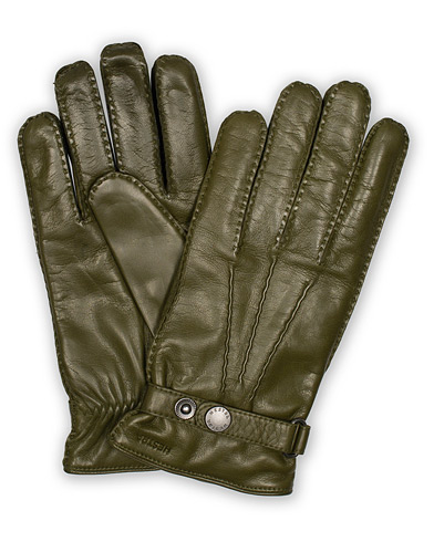 Hestra Jake Wool Lined Buckle Glove Green i gruppen Accessoarer / Handskar hos Care of Carl (16213411r)
