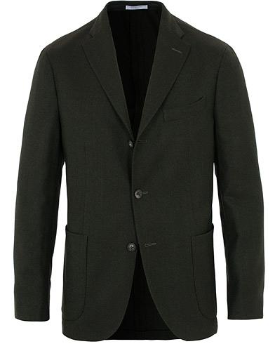 Boglioli K Jacket Wool Hopsack Blazer Dark Green
