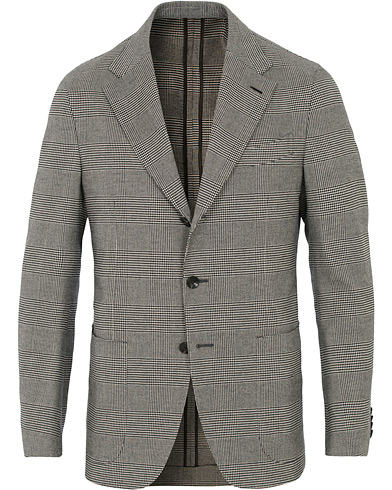 Butterfly Prince of Wales Cotton Cashmere Touch Blazer Grey