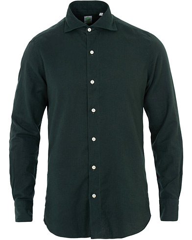 Finamore Napoli Tokyo Slim Fit Flannel Shirt Forest