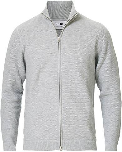 NN07 Patrick Full Zip Medium Grey Melange i gruppen Kläder / Tröjor / Zip-tröjor hos Care of Carl (16256611r)