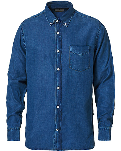 NN07 Levon Tencel Denim Shirt Dark Indigo i gruppen Kläder / Skjortor / Casual / Jeansskjortor hos Care of Carl (16258011r)
