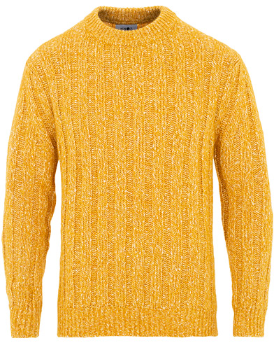 NN07 Storm Cable Crew Neck Yellow