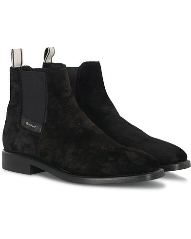 GANT James Chelsea Boot Black Suede i gruppen Skor / Kängor hos Care of Carl (16266011r)