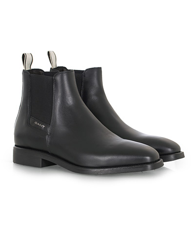 GANT James Chelsea Boot Black Calf i gruppen Skor / Kängor hos Care of Carl (16266311r)