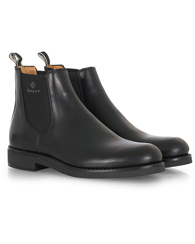 GANT Oscar Chelsea Boot Black Calf i gruppen Skor / Kängor hos Care of Carl (16266811r)