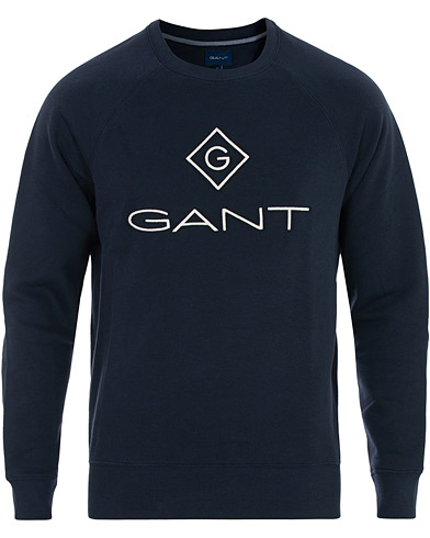 GANT Lockup Crew Neck Sweatshirt Evening Blue i gruppen Kläder / Tröjor / Sweatshirts hos Care of Carl (16272711r)