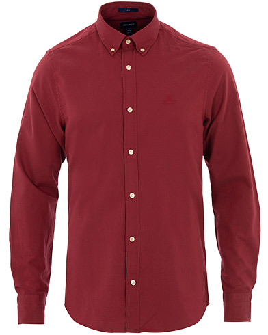 GANT Slim Fit Winter Twill Shirt Mahogany Red i gruppen Kläder / Skjortor / Casual hos Care of Carl (16276811r)
