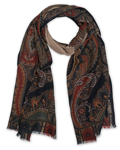 Etro Wool/Yak Paisley Scarf Cream  i gruppen Accessoarer / Scarves hos Care of Carl (16288310)