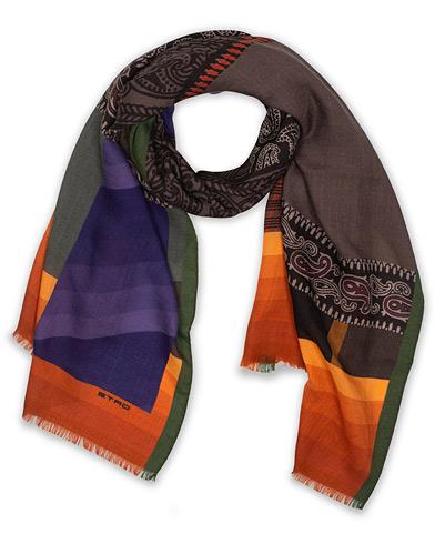 Etro Wool/Silk Scarf Orange