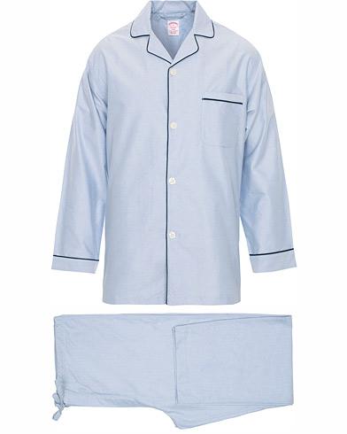 Brooks Brothers Classic Oxford Pyjamas Light Blue